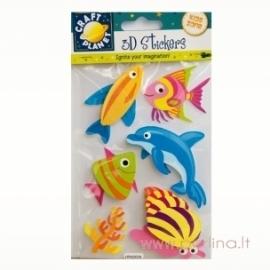 "3D Lipdukai ""Dolphin"", 6 vnt."