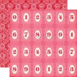 """Paper """"Number Circles - Jack and Jill Girl Collection"""", 30,5x30,5 cm"""