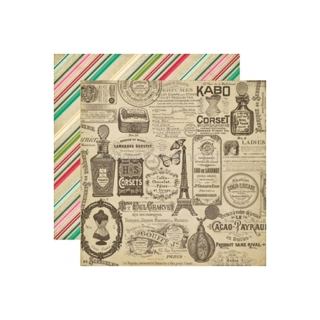 """Popierius """"Vintage Ads - Jack and Jill Girl Collection"""", 30,5x30,5 cm"""