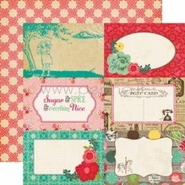 "Popierius ""4x6 Journaling Cards - Jack and Jill Girl Collection"", 30,5x30,5 cm"