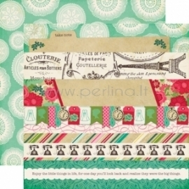 """Paper """"Border Strips - Jack and Jill Girl Collection"""", 30,5x30,5 cm"""