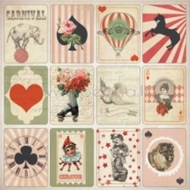 "Popierius ""Magic deck - Vintage Circus"", 30,5x30,5 cm"