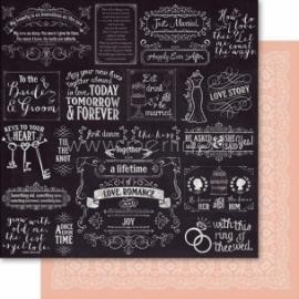 "Popierius ""Blackboard - Rustic Charm Paperz"", 30,5x30,5 cm"