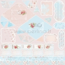 "Popierius ""Avalance - Rose Garden"", 30,5x30,5 cm"
