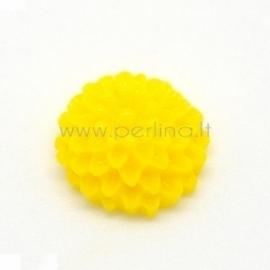 "Akrilinis kabošonas ""Geltona gėlė"", 10x5 mm"