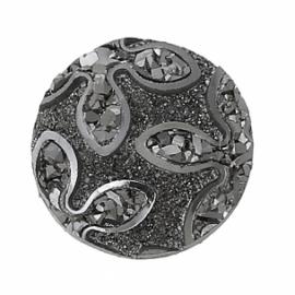 Akrilinis kabošonas, pilkas blizgus, 12 mm