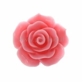 """Akrilinis kabošonas """"Rožė"""", tamsiai rožinė sp., 20x20 mm"""