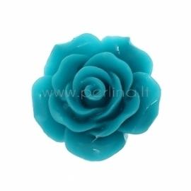 "Akrilinis kabošonas ""Rožė"", tamsiai mėlyna sp., 20x20 mm"