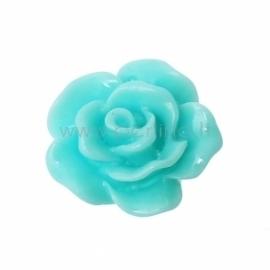 "Akrilinis kabošonas ""Rožė"", žydra sp., 10x10 mm"