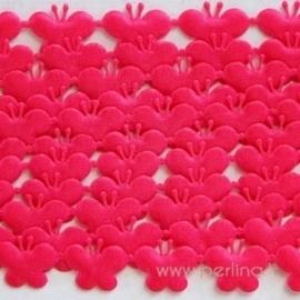 """Juostelė """"Drugeliai"""", tamsiai rožinė, 13 mm, 2 m"""