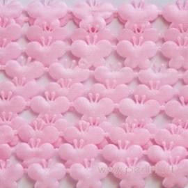 """Juostelė """"Drugeliai"""", rožinė, 13 mm, 2 m"""