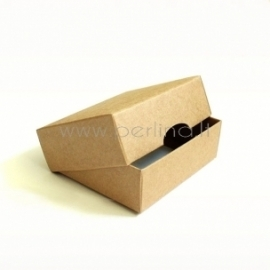 Two-piece cardboard rectangular box, 9x7x3 cm