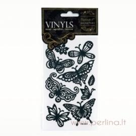 """Vinyls lipdukai """"Butterfly"""", 9 vnt."""