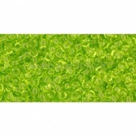TOHO biseris, skaidrus Lime Green (4), 11/0, 10 g