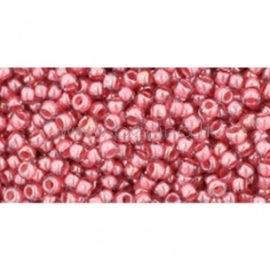 TOHO biseris, skaidrus su blizgesiu Rose/Mauve Lined (291), 11/0, 10 g