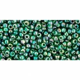 TOHO biseris, skaidrus vaivorykštinis Green Emerald (179), 11/0, 10 g