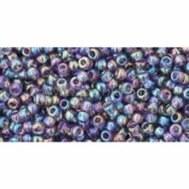 TOHO biseris, skaidrus vaivorykštinis Sugar Plum (166D), 11/0, 10 g