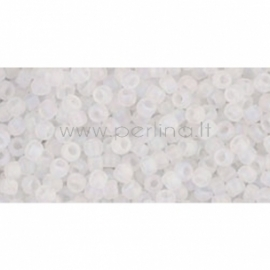 TOHO biseris, skaidrus vaivorykštinis Frosted Crystal (161F), 11/0, 10 g