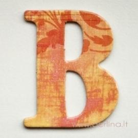 """Kartoninė raidė """"B"""", 4,7 cm"""