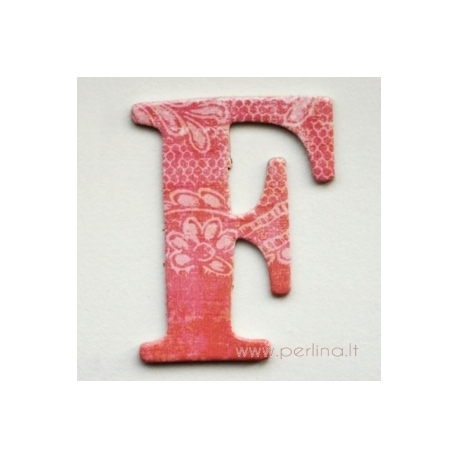 """Kartoninė raidė """"F"""", 4,7 cm"""