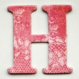 """Kartoninė raidė """"H"""", 4,7 cm"""
