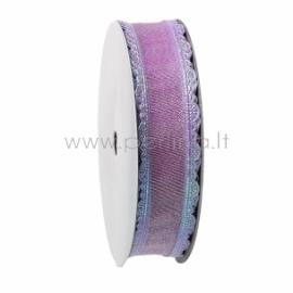 Satin ribbon, purple AB color, 25 mm, 1 m