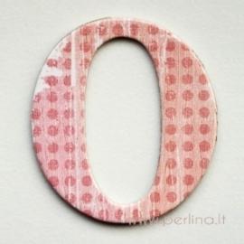 """Kartoninė raidė """"O"""", 4,7 cm"""
