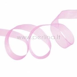 Organzos juostelė, rožinė, 12 mm, 45,7 m