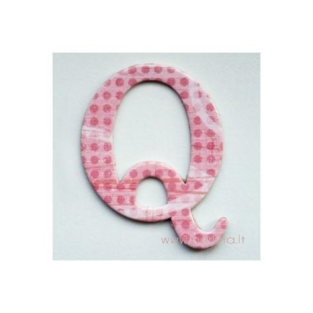"""Kartoninė raidė """"Q"""", 4,7 cm"""