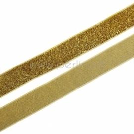 Poliesterio juostelė, auksinė sp. su blizgučiu, 20 mm, 1 m
