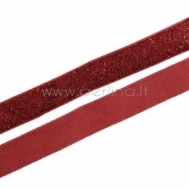 Poliesterio juostelė, raudona su blizgučiu, 20 mm, 1 m