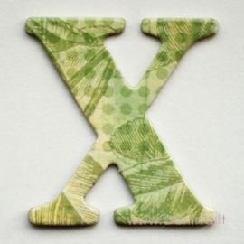 """Kartoninė raidė """"X"""", 4,7 cm"""