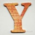 """Kartoninė raidė """"Y"""", 4,7 cm"""