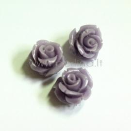 Sintetinis koralo karoliukas, gėlytė, blyški violetinė sp., 12x12 mm