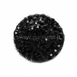 Akrilinis kabošonas, juodos sp., 10 mm