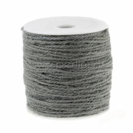 Džiuto virvelė, pilka, 2 mm, 1 m