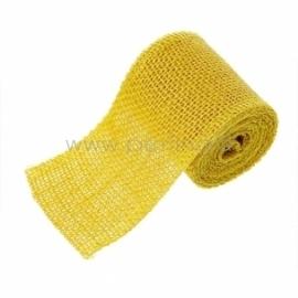 Džiuto juostelė, geltona, 6 cm, 2 m