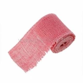 Džiuto juostelė, rožinė, 6 cm, 2 m