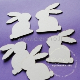 "Chipboard ""Bunnies, 5 cm"", 5 pcs"