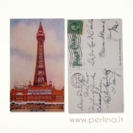"""Mini atvirlaiškis """"Londono bokštas"""", 4x7 cm"""