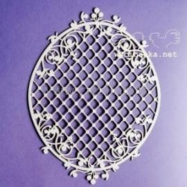 "Chipboard ""Blueberry Swirls - big frame with lattice"", 1 pc"