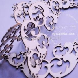 """Kartoninė detalė """"Forever - kampo ornamentas, didelis"""", 4 vnt."""
