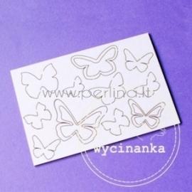 """Chipboard """"Butterflies"""", 14 pcs"""
