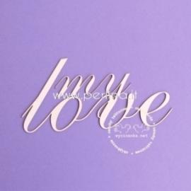 "Kartoninė detalė ""My Love"", 1 vnt."