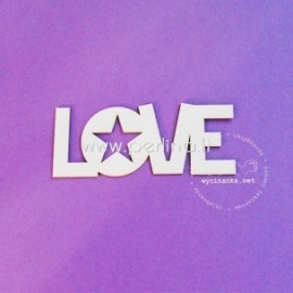 "Kartoninė detalė ""Love"", 1 vnt."