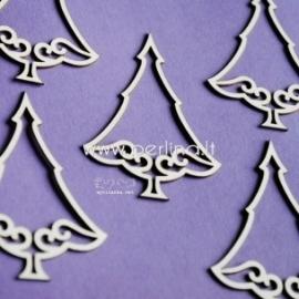 """Kartoninė detalė """"Kalėdinės eglės 5"""", 5 vnt."""
