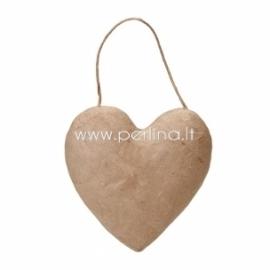 Kartoninė širdelė, pakabinama, 13,5x13,5 cm