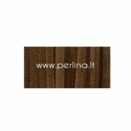 Pūkuota šenilo vielutė, ruda sp., 30,5 cm, 25 vnt.