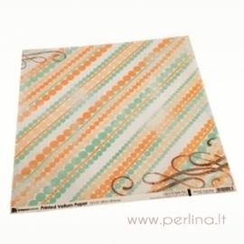 """Kalkinis popierius """"Green&Orange Dots"""", 30,5x30,5cm"""