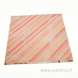 """Kalkinis popierius """"Pink Dots"""", 30,5x30,5cm"""